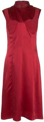 Silk Cut-Out Detail Dress