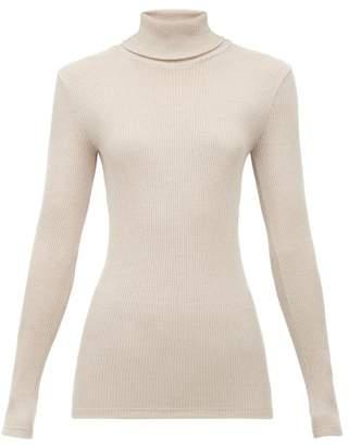 Hanro Rubina Ribbed Wool Blend Top - Womens - Beige