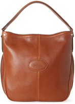 Longchamp Cognac Mystery Hobo Bag