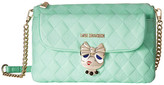 Love Moschino Updated Small Quilted Crossbody Bag with Love Girl Clasp
