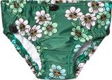 Mini Rodini Dark Green Daisy Baby Swimpants