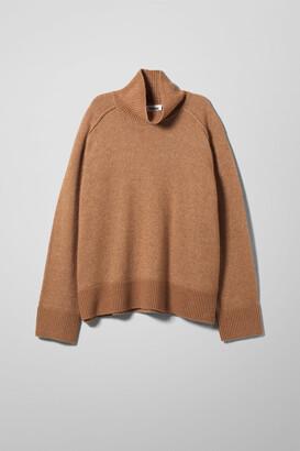 Weekday Avalon Turtleneck Sweater - Beige
