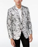 INC International Concepts Men's Slim-Fit Silver Foil Blazer, Created for Macy's