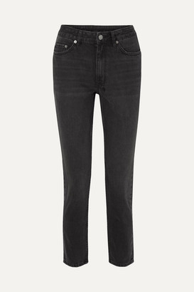 Ksubi Slim Pin Hi Society High-rise Slim-leg Jeans - Black