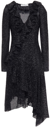Philosophy di Lorenzo Serafini Asymmetric Ruffled Open-knit Dress
