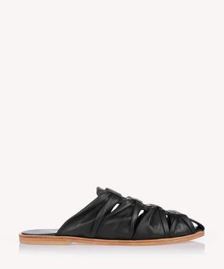 Urge Women's Romy Knotted Flats Mules Black Size 6 Leather From Sole Society
