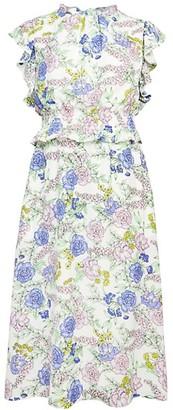 Julia Jordan Floral Ruffle Dress