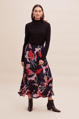 Lily & Lionel Anthropologie x Aminia Abstract-Print Skirt