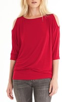 Michael Stars Petite Women's Cold Shoulder Tee