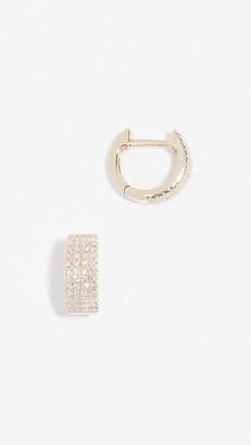 Ef Collection 14k Diamond Jumbo Huggie Earrings