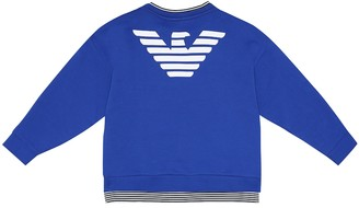 Emporio Armani Kids Logo stretch-cotton sweatshirt