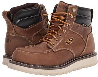 Keen Cincinnati 6 Waterproof (Soft Toe) (Belgian/Sandshell) Men's Work Boots