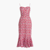 J.Crew Ruffle-hem midi dress in Liberty® Wiltshire floral