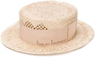 Ruslan Baginskiy Straw Branded Hat