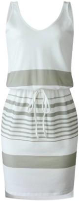 Goodnight Macaroon 'Christena' V-neck Striped Tied Waist Mini Dress (2 Colors)