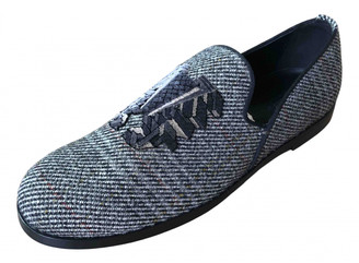 Bottega Veneta Grey Tweed Flats