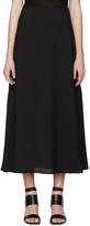 Rosetta Getty Black Flared Skirt
