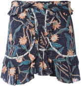 Isabel Marant ruffle detail shorts - women - Cotton - 36