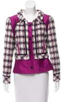 Oscar de la Renta Structured Tweed Blazer