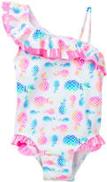 Flapdoodles Pineapple Print One Piece (Toddler Girls)