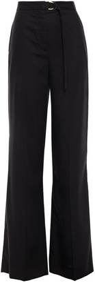 Sandro Roxanne Buckled Twill Wide-leg Pants