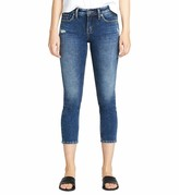 Thumbnail for your product : Silver Jeans Co. Women's Elyse Curvy Mid Rise Slim Fit Crop Jean
