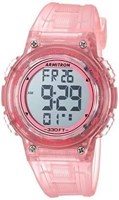 Armitron Sport Women's 45/7086TPK Digital Chronograph Translucent Resin Strap Watch