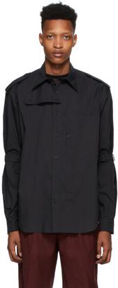 John Lawrence Sullivan Johnlawrencesullivan Black Cotton Bondage Shirt