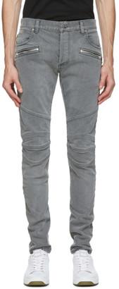Balmain Black Monogram Slim Jeans