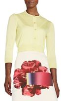 Carolina Herrera Cropped Silk & Cashmere Cardigan