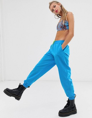 Asos DESIGN shell jogger in blue