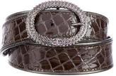 Roberto Cavalli Embossed Patent Leather Belt