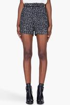 MAISON KITSUNE Charcoal Cuffed Tweed Shorts