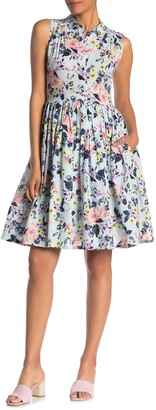 French Connection Armoise Sleeveless Floral Print Dress