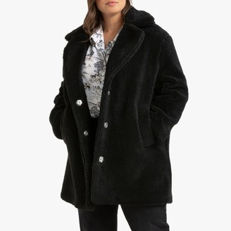 La Redoute Collections Plus Faux Fur Teddy Coat with Pockets and Press Studs