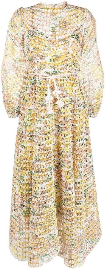 Zimmermann Poppy eyelet long dress