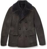 Bottega Veneta Slim-Fit Double-Breasted Shearling Jacket