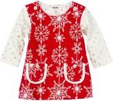 Hatley Pretty Snowflakes Layered Look Dress (Baby Girls)