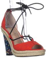 Charles by Charles David Charles Charles David Boston Lace Up Wedge Sandals, Fire/multi.