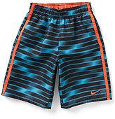 Nike Big Boys 8-20 Volley Striped Gradient Printed Swim Shorts