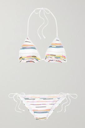 Missoni Mare Crochet-knit Triangle Halterneck Bikini - White