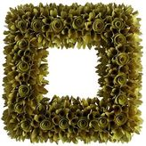 Pier 1 Imports Wood Curl Green Square Wreath