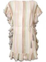Zimmermann 'tropicale' Flutter Fringe Dress