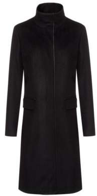 HUGO Fully lined coat in a wool blend with cashmere