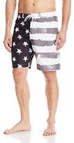 Teal Cove Men's American Flag Boardshort