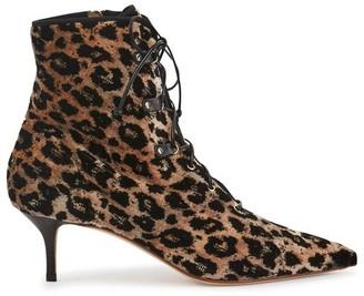 Francesco Russo Velvet ankle boots