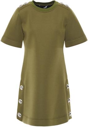 Love Moschino Snap-detailed Scuba Mini Dress