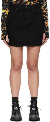 McQ Black Straight Miniskirt