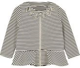River Island Mini girls black stripe peplum jacket