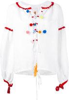 Forte Forte pompom blouse - women - Linen/Flax/Viscose - 38
